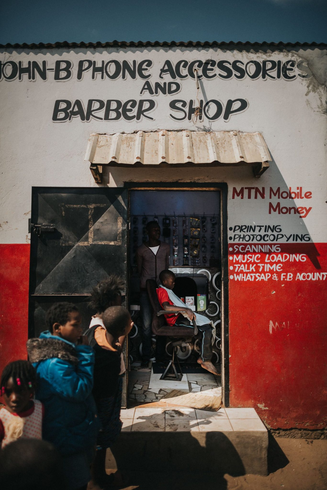 Fine Art Photography Gallery. The Barbershop, Zambia Collection
