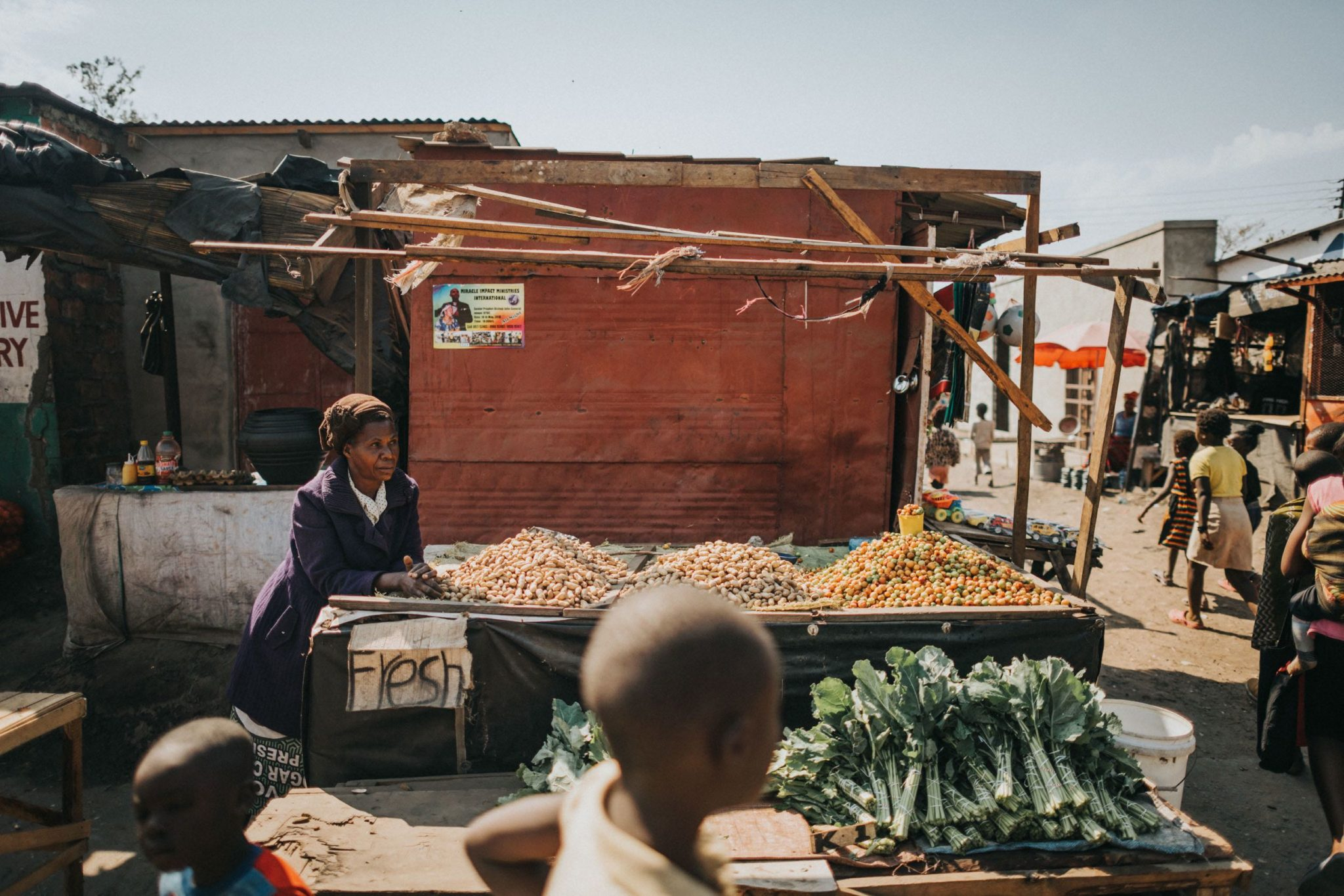 African Photography For Sale. The Market, Zambia Collection